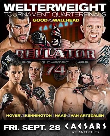 Скачать с letitbit  MMA. Турнир Bellator 74 (2012) SATRip
