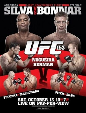 Скачать с letitbit  Бои без правил - UFC 153 Silva vs Bonnar (2012/HDTVRip)
