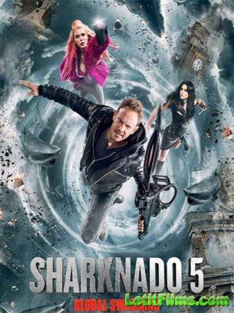 Скачать фильм Акулий катамаран 0: Глобальное ройба / Sharknado 0: Global Swarming (2017)